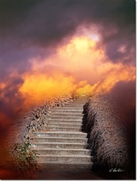 Stairway Fleece Blanket by Robert Bartow
