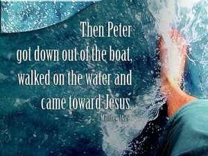 Peter's response was not perfect, but he did get out of the boat
