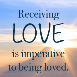 Receive His love