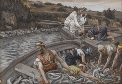 The Miraculous Draught of Fishes by James Tissot