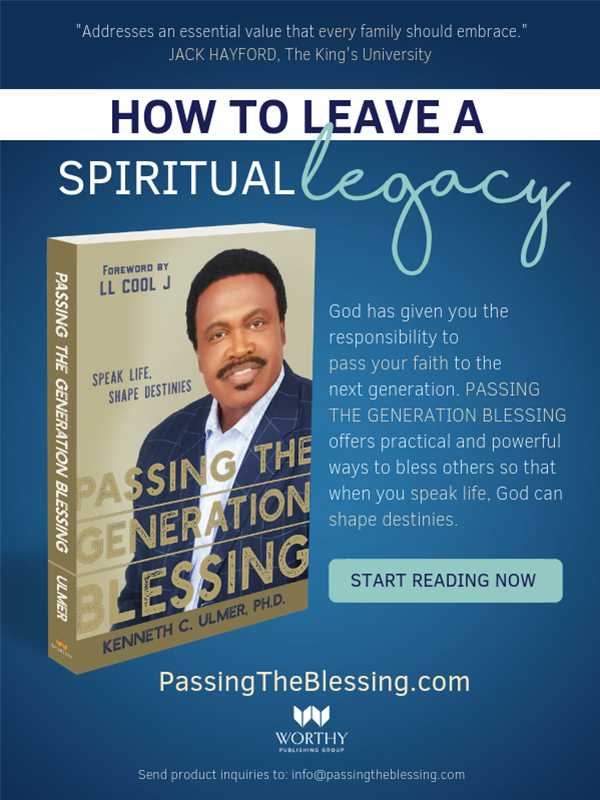 PassTheBlessing.com 'Passing The Generation Blessing' Book Photo & About the Book