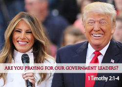 Are You Praying for Our Government Leaders?